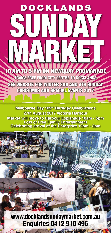 Melbourne Day 27th August 2017 - Docklands Market